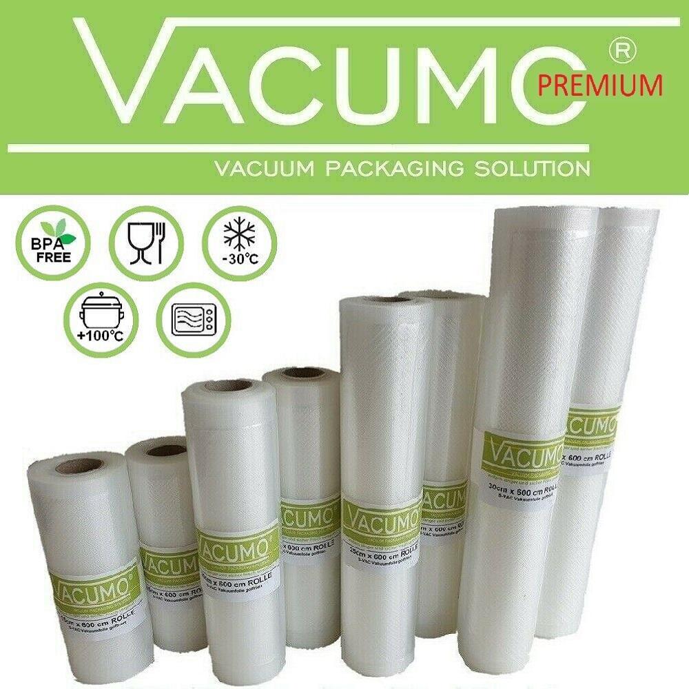 6 x Vakuumbeutel Vakuumfolie Rolle 20 25 30 cm Breite LA.VA Vakuumierer geeignet